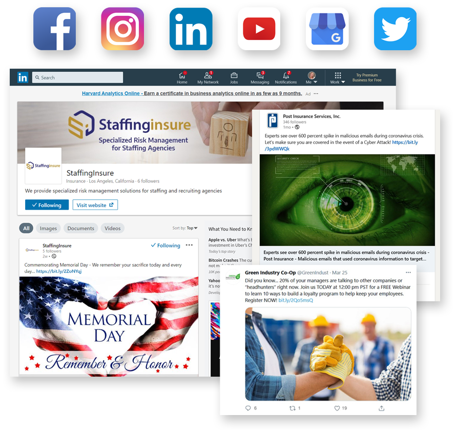 Social Media Posts Examples